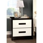 Copper Grove Guanare Juxtaposed Geometric Black And White Nightstand Overstock 27423141