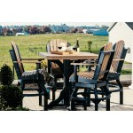 Outdoor Bar Height Dining Set Table 4 Swivel Arm Chairs Overstock 27437614