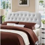 Rovna White Upholstered Tufted King Size Headboard On Sale Overstock 27468533