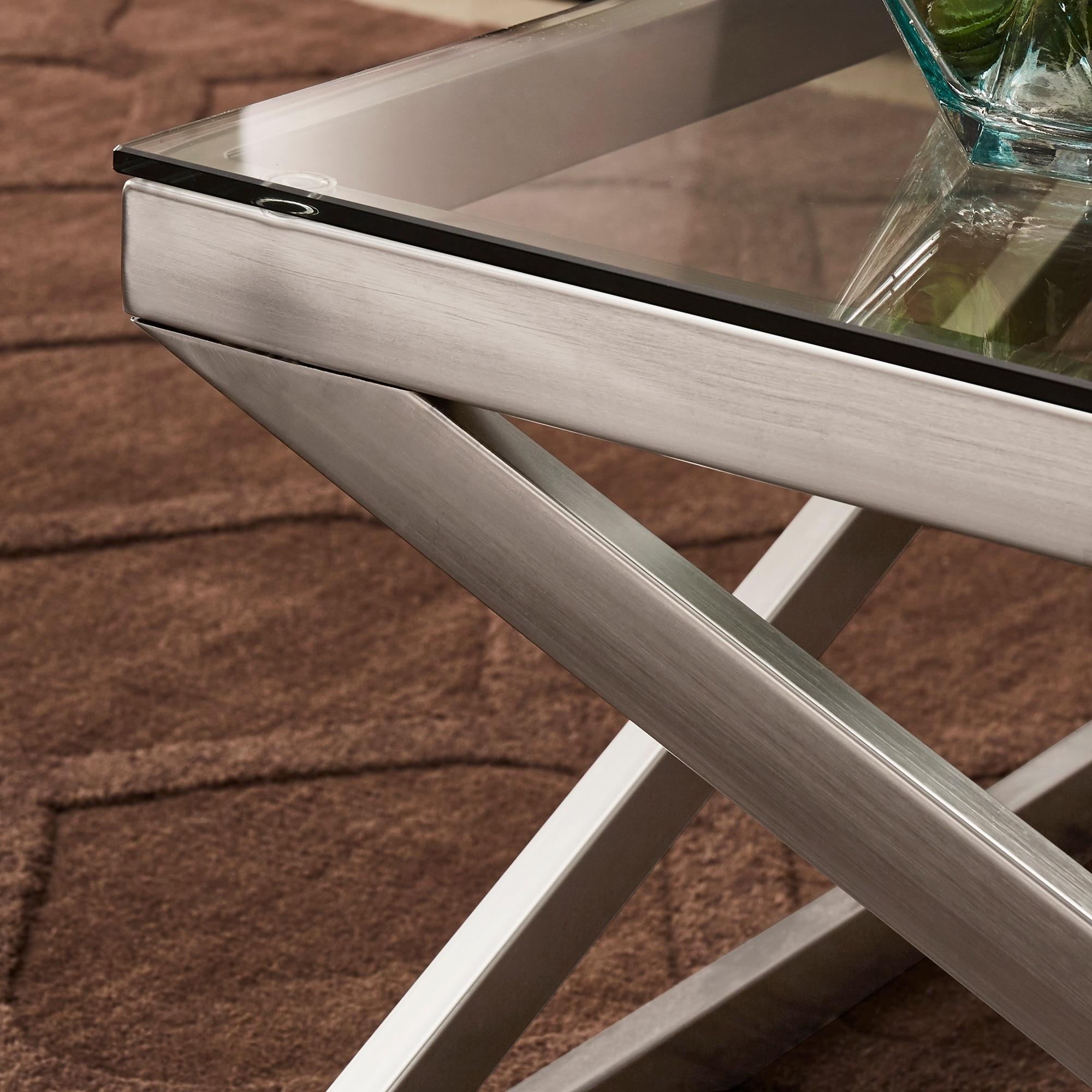 copper grove valkeakoski brushed nickel coffee table