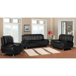 Jasmine Faux Leather 3pc Living Room Set