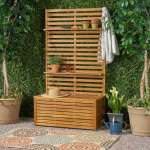 Sylmar Outdoor Wooden Hall Tree By Christopher Knight Home Overstock 27594406