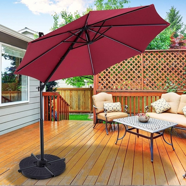outsunny large 4 piece round fillable
