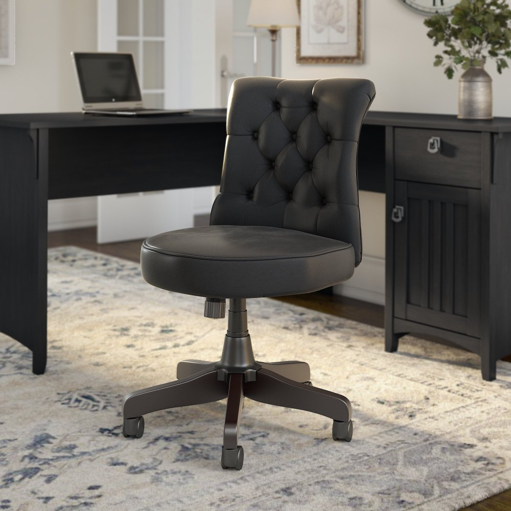 medium resolution of the gray barn hickory place mid back tufted office chair