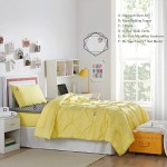 Shop Black Friday Deals On Porch Den Biles Limelight Yellow Pin Tuck Twin Xl Dorm Room Bedding Set On Sale Overstock 27994437