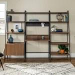 Carbon Loft Lahuri 3 Piece Desk Ladder Shelf And Cabinet Set