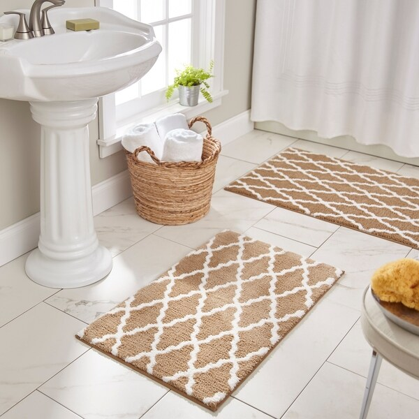 Shop Mohawk Horizon Pueblo Bath Rug Overstock 28027958 1 9 X 2 10 Tan