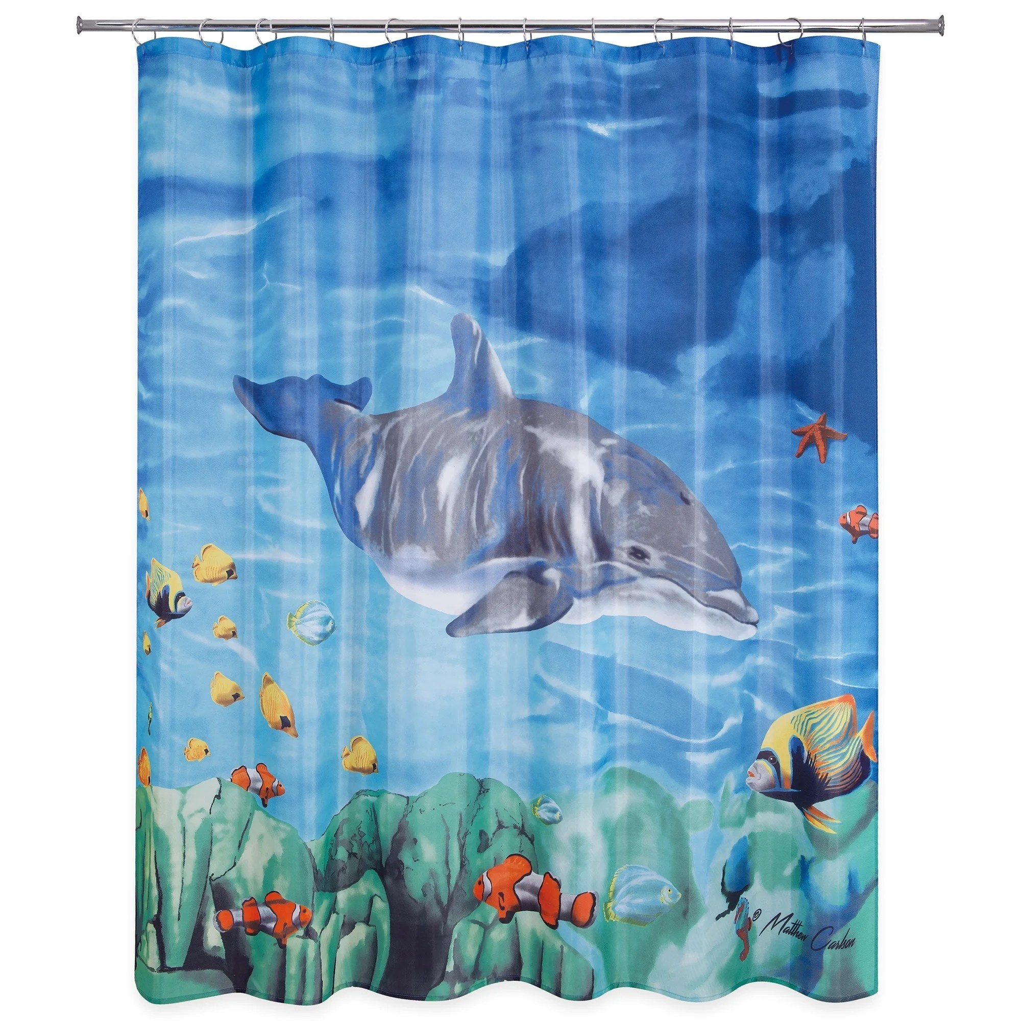 Dolphin Fish Shower Curtain