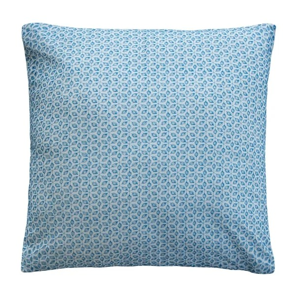 lace euro pillow cover 26x26 cover only blue eyelet