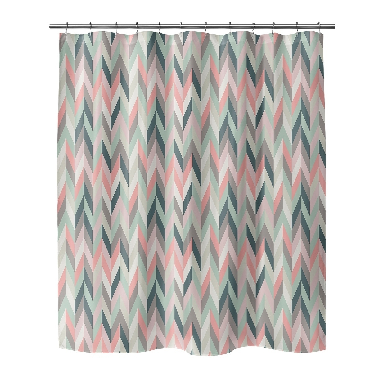 aaron pink shower curtain by kavka designs