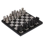 Handmade Black And Grey Challenge Marble Chess Set Mexico Overstock 28473035