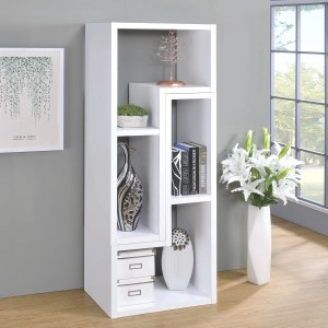Modern Contemporary Multifunctional Design White Display Bookcase Tv Console