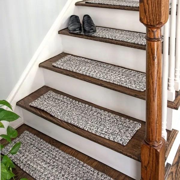 Grey Stair Treads Shop Online At Overstock   Off The Loom Stair Runners   Flatweave Stair   Modern Staircase   Stair Rods   Flat Weave   Flooring