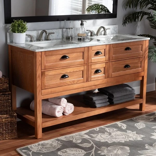 Shop Farmhouse Country Double Sink Bathroom Vanity On Sale Overstock 28560648