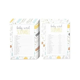 Shop 50 Baby Shower Scramble Party Game Sheets +2 Answer