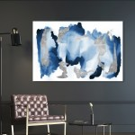 Oliver Gal In Too Deep Abstract Wall Art Canvas Print Blue Gray Overstock 28585046