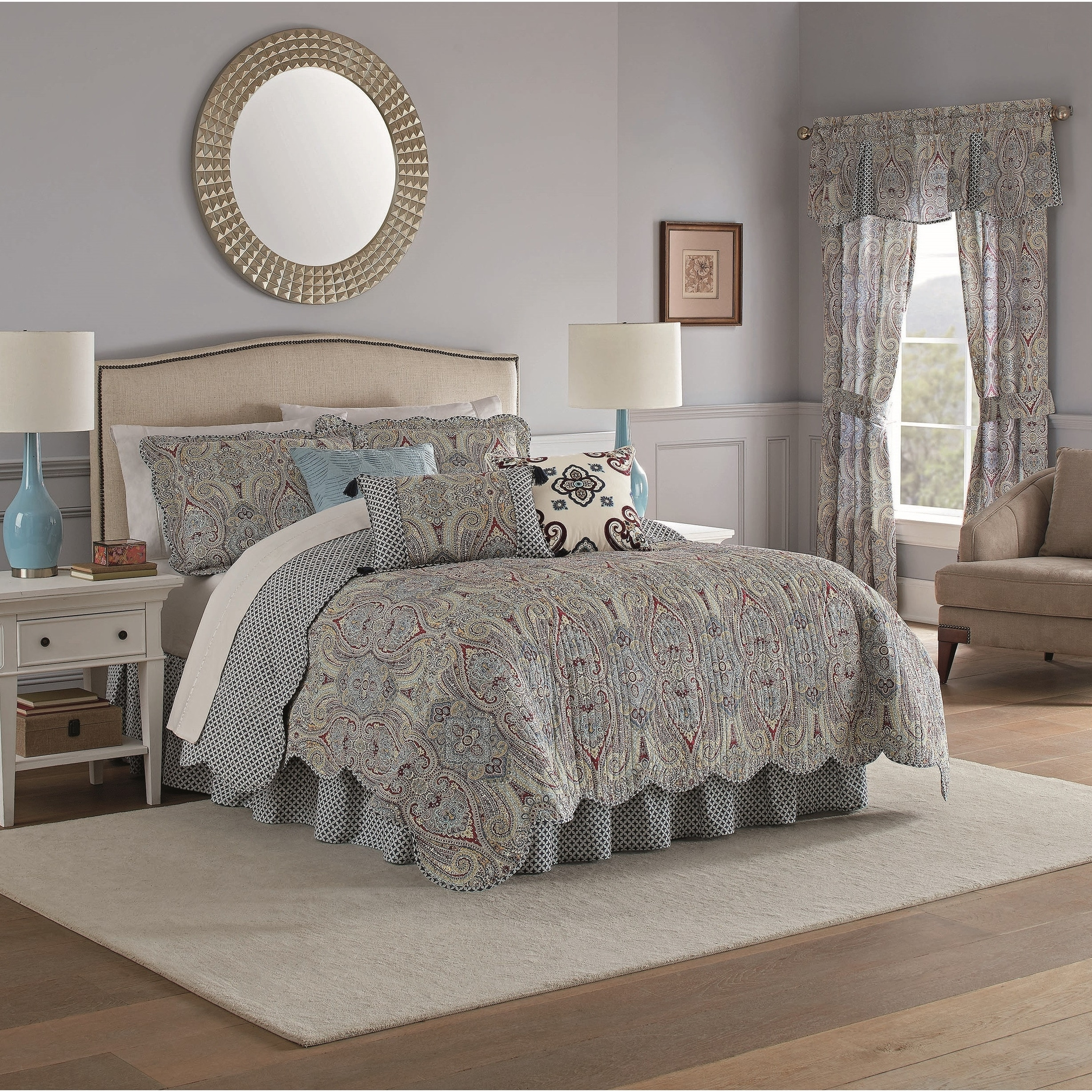 Shop Waverly Paisley Pizzazz Quilt Set Overstock 28586977 Twin