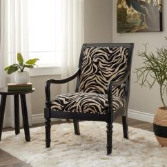 Zebra Print Chairs For Sale Folding Wood Beach Chair Plans Shop Turned Leg Arm - Free Shipping Today Overstock.com 2864946