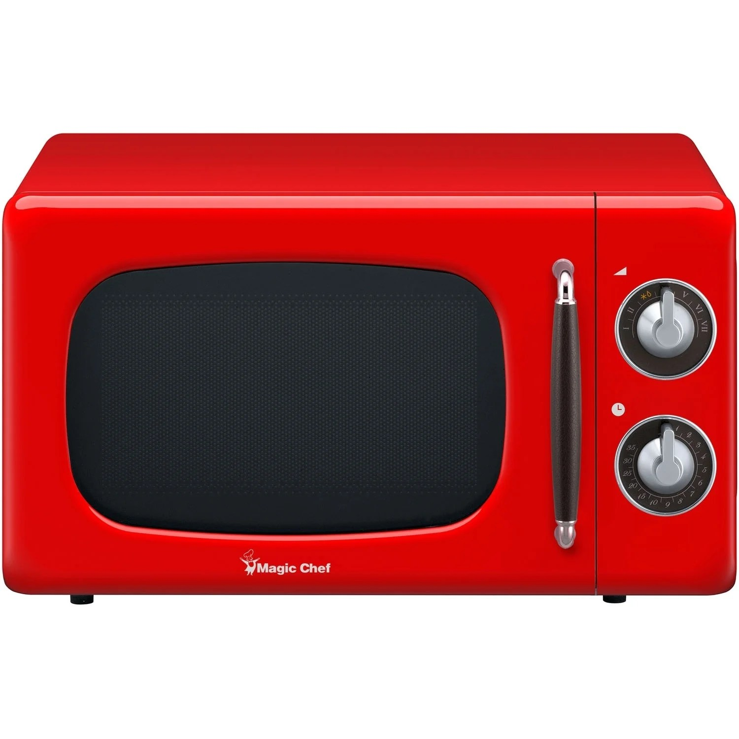 red microwave oven 700w digital led