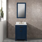 Madison 24 Inch Monarch Blue Single Sink Carrara White Marble Vanity On Sale Overstock 28807307