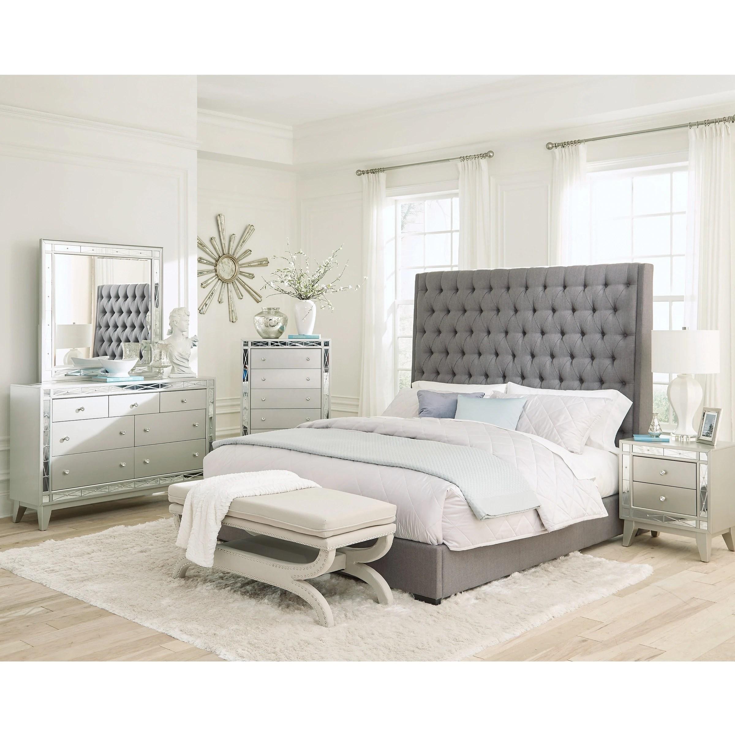 briarley grey 2 piece upholstered bedroom set