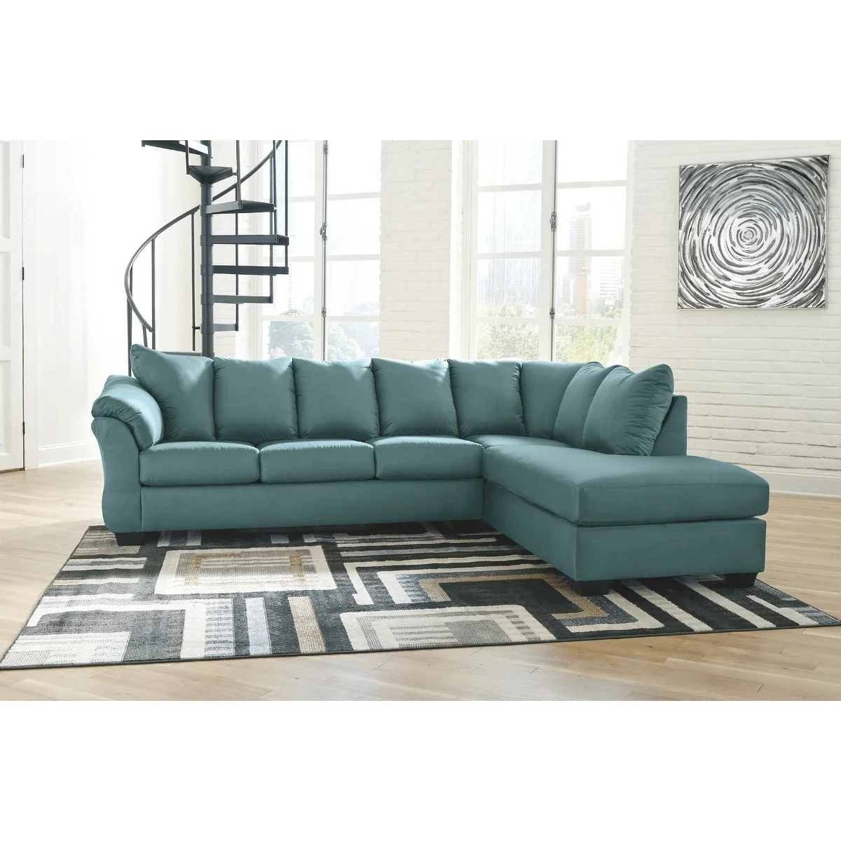 darcy 2 piece sectional w chaise right facing sky