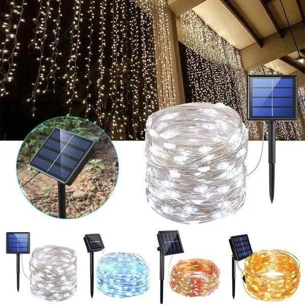200 led solar string lights 8 modes