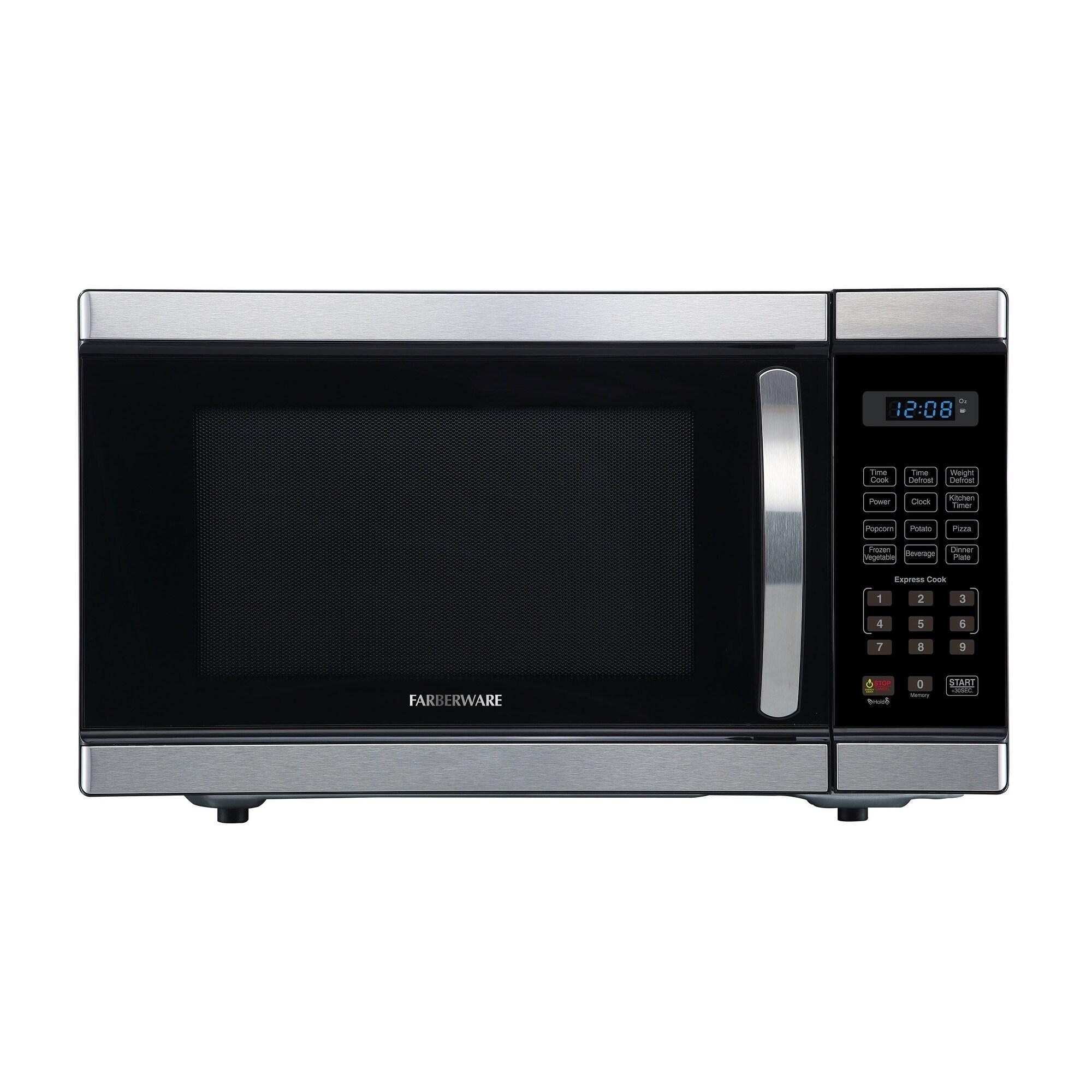 farberware professional fmo11ahtbkl 1 1 cu ft 1000 watt microwave oven stainless steel