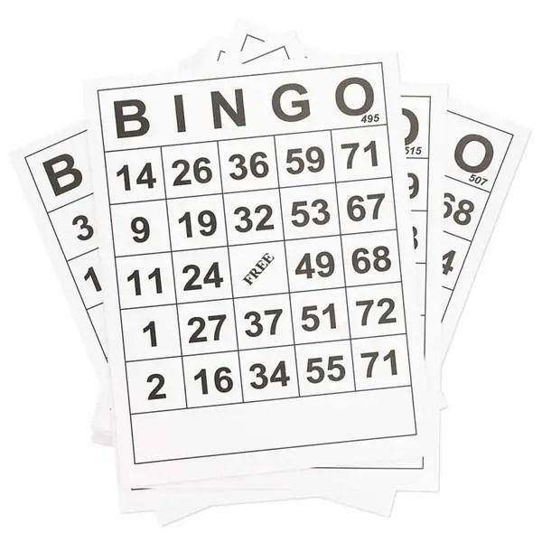 Shop 60-Pack Large Print Jumbo Bingo Calling Cards Easy