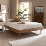 Carson Carrington Banga Mid Century Modern Wood Bed Frame On Sale Overstock 29065431