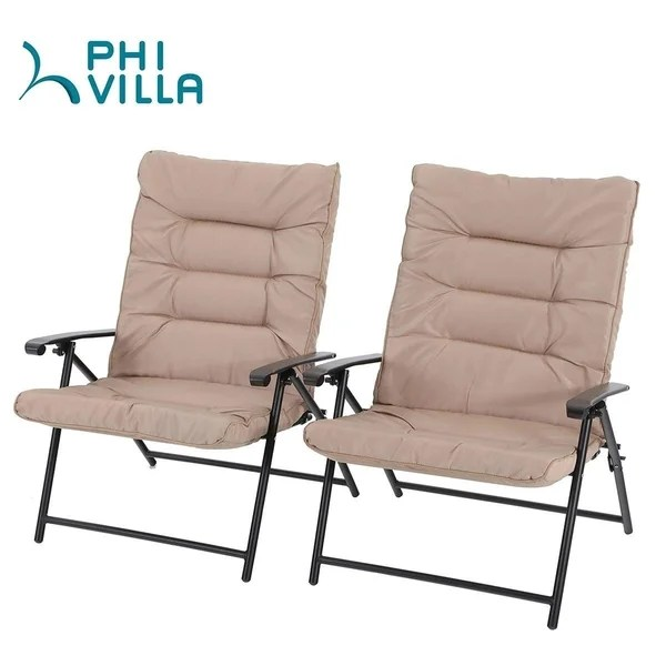 phi villa patio padded folding