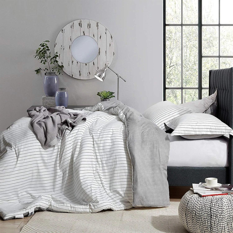 the landon black and white comforter 100 cotton