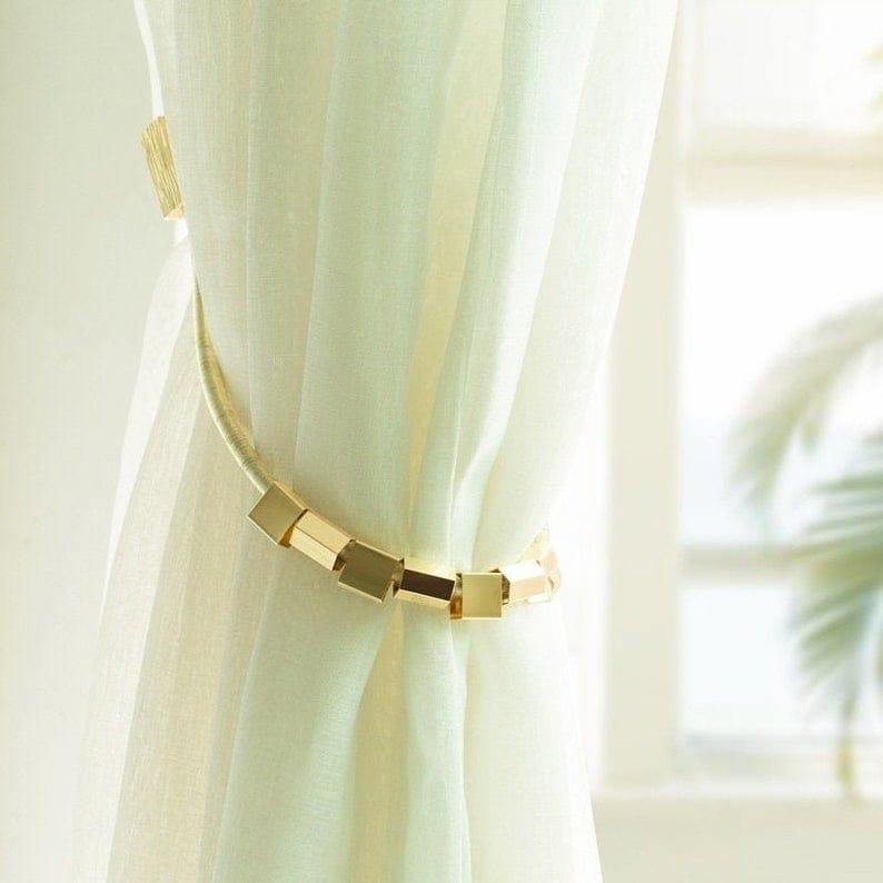 pitman magnetic curtain tie backs set of 2