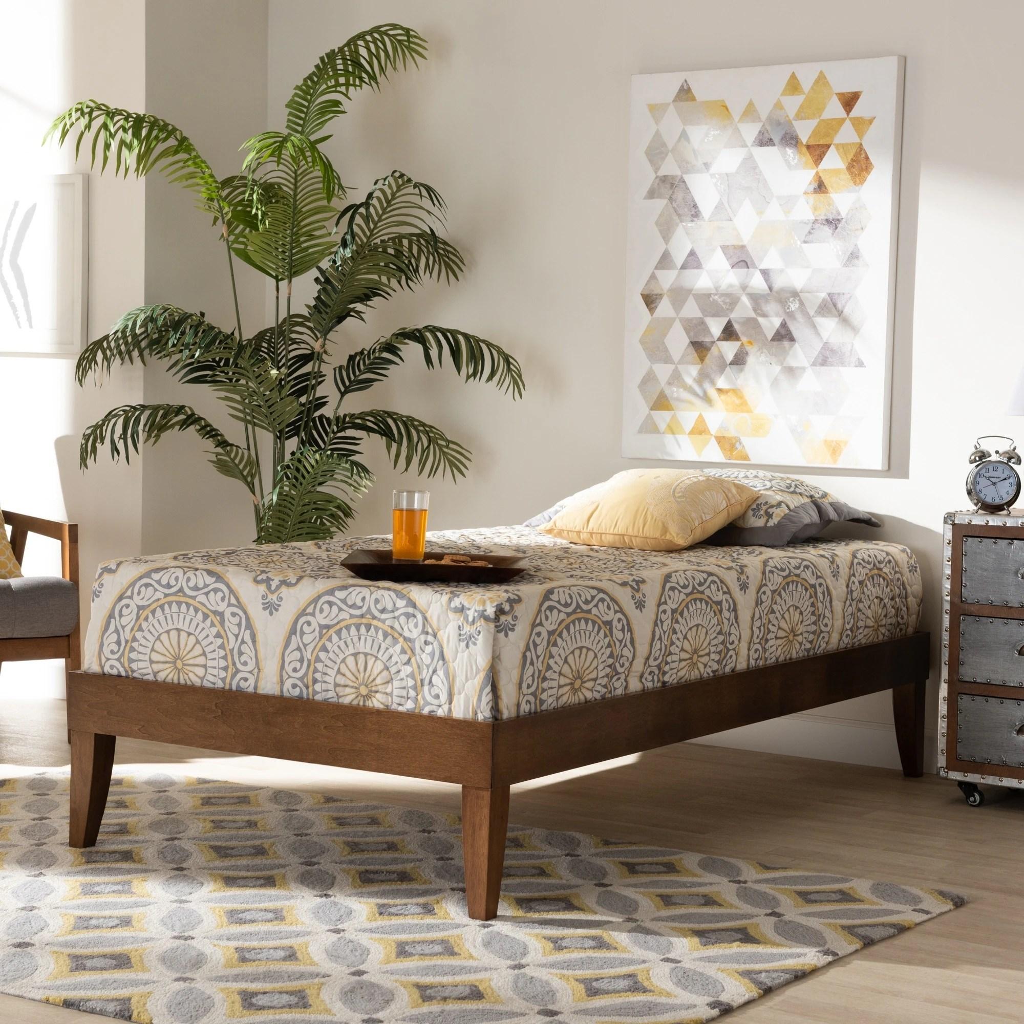 Carson Carrington Bakarekulla Mid Century Modern Platform Bed Frame