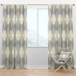 Modern Geometric Curtain Panels Modern Curtains