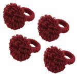 Jute Napkin Rings With Flower Design Set Of 4 On Sale Overstock 29741748