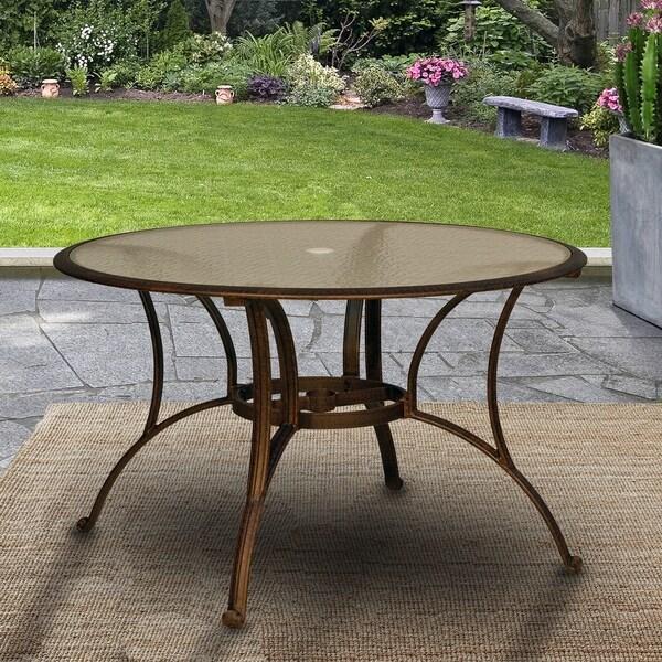 square glass patio table with umbrella