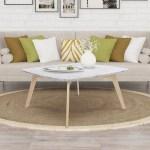 Vezzana 31 Square Italian Carrara White Marble Coffee Table With Oak Legs Overstock 29764308