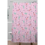 Deny Designs Flamingo And Cactus Shower Curtain On Sale Overstock 29812886