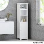 Heineberg Modern Free Standing Bathroom Linen Tower Storage Cabinet By Christopher Knight Home Overstock 29816869
