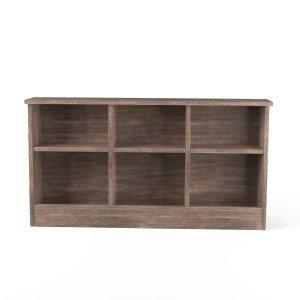 Roman Ii Modern Walnut Finish Bookcase Headboard