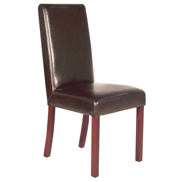 dark brown leather chair makeup shop monaco dining free shipping today overstock com 2999533