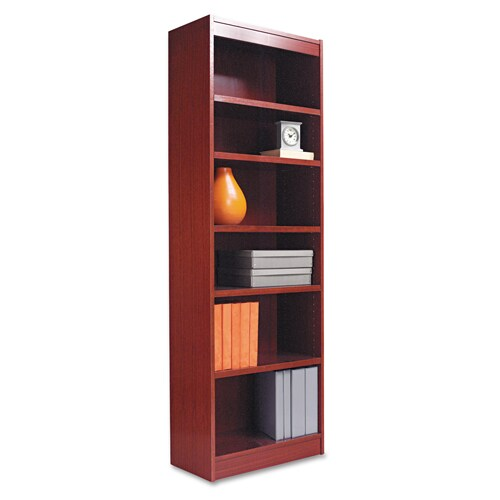 Alera 24inch Wide Wood Veneer Bookcase  Cherry Free