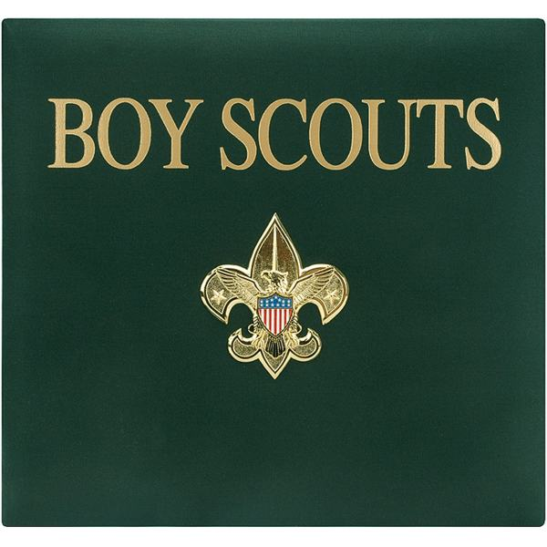 Postbound Green Boy Scouts Scrapbook Album With 10 Page