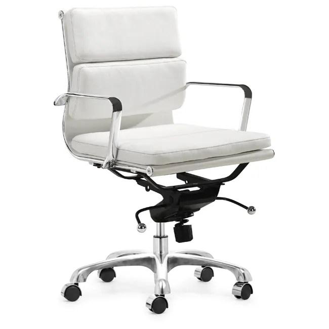 Milan White Office Chair  11229459  Overstockcom