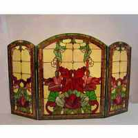 Tiffany-style Stained Glass Fireplace Screen - Free ...