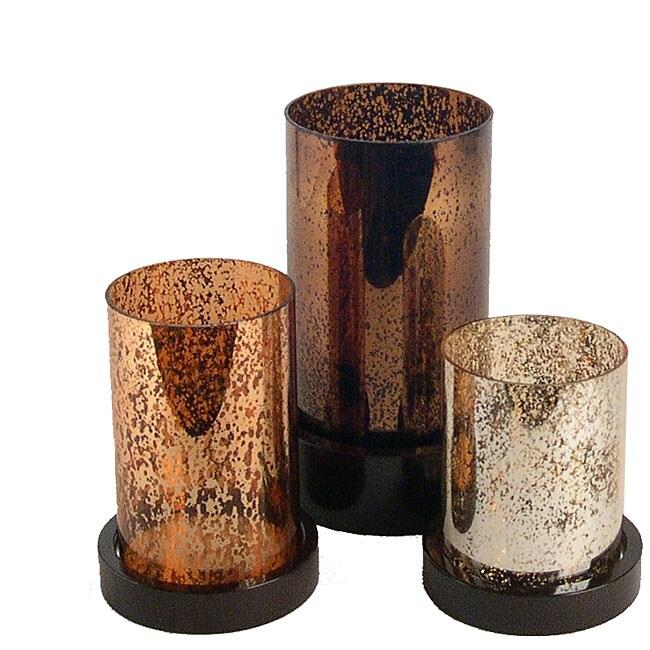 Glass Hurricane Pillar Candle Holders Set Of 3 Free