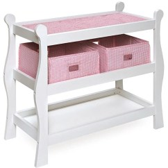 Badger Basket High Chair Body Built Chairs Review Sleigh-style Doll Changing Table - Free Shipping Today Overstock.com 11448151