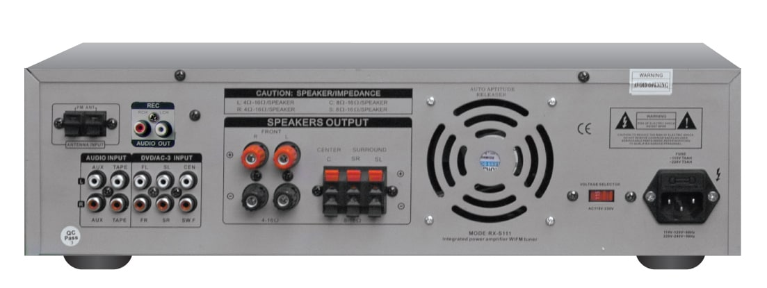 Technical Pro RX-S111/RX-B111 1000W Integrated Amp with EQ
