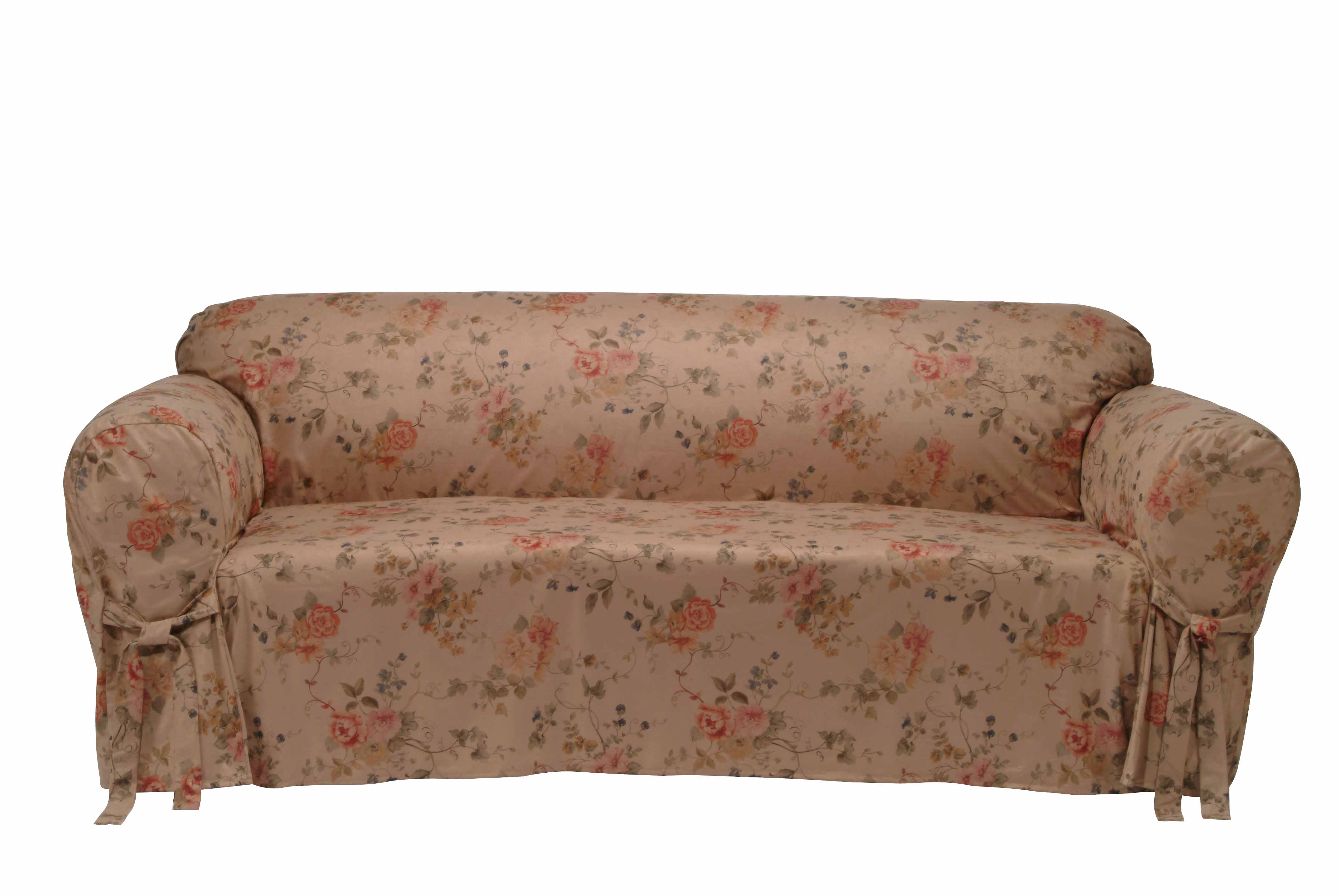 flower sofa covers small es configurable sectional walmart ultimate suede floral print slipcover free shipping